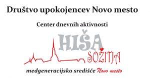 Društvo upokojencev Novo mesto Logo