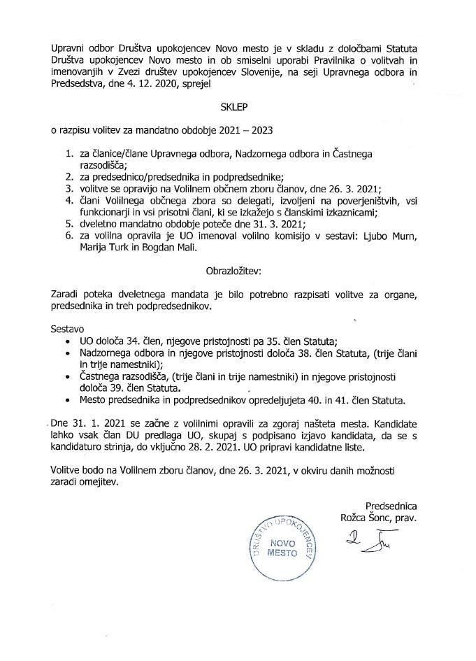 SKLEP-Razpis-volitev-za-mandatno-obdobje-2021-2023